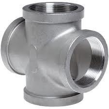 China DN250 Cross Tee, Stainless Steel A182 F316 FNPT  Class 3000 ASME B16.11 on sale