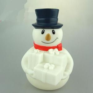China Rubber Christmas Light Up Snowman LED Light Ornament Multi Color Changing on sale
