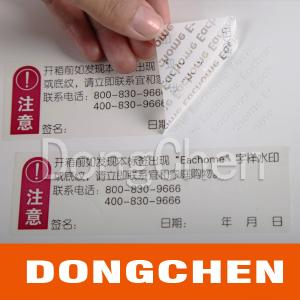 China self-adhesive VOID tamper evident label sticker on sale