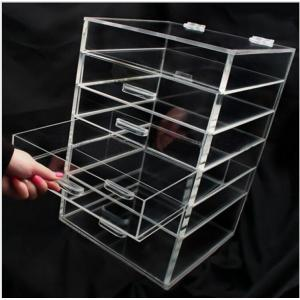 China Transparent Silker Print Table Top Display Stands , Clear Acrylic Brochure Holders For Promotion on sale