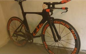 Quality Aerodynamic Carbon Time Trial Bike Frame , Carbon Fiber Bike Frame HT-T376 for sale