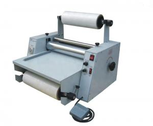 China Small Size Roll Laminator Machine Hot Laminating Machine 1100W LM380 on sale