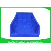 Customized Industrial Plastic Storage Containers , Standard Size Stackable Storage Bins