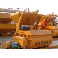 China Electric Dual - Axial Forced 500L Cement Concrete Mixer Machine With 25 M3 / H Productivity on sale