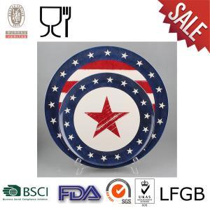 China Placa redonda de la melamina con el logotipo on sale