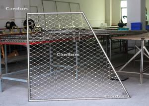 China Flexible Stainless Steel Cable Mesh Panels For Balustrade Railing on sale