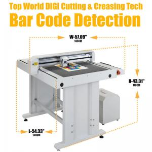 China High Speed Digital Flatbed Cutter Max 600mm/S Dual Cutting Head on sale