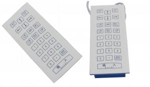 China Rugged medical membrane numeric keypad with top panel mounting and USB interface on sale
