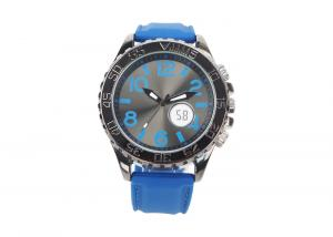 China Fashion Blue Strap And Dial Big Face Wrist Watches With Japan Movement And Battery on sale