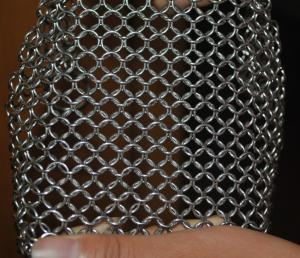 China 304 Stainless Steel Chainmail Scrubber Kitchen Cast Iron Hardware Cleaner 7 * 7 inch on sale