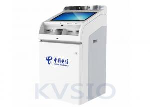 China Cash Acceptor Self Service Kiosk 24 / 7 Online Support Strong Environmental Adaptability on sale