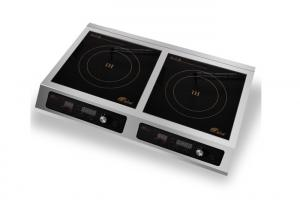 Quality Durable Double Commercial Induction Cooker 3500w With LED Screen Black Color for sale