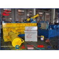 China Heavy Duty HMS Hydraulic Scrap Metal Compactor Recycling Baler Side Push Out on sale