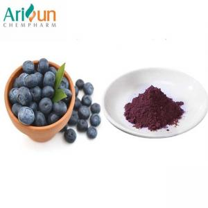 China Dark Purple Natural Organic Freeze Dried Blueberry Powder Anthocyanin Included on sale