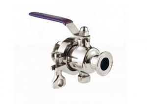 China Non Resort Sanitary Ball Valve , Threaded / Clamped High Pressure Full Port Ball Valve on sale