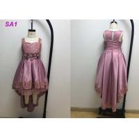 China Fashion Satin Purple Flower Girl Dresses , Chidren Casual Flower Girl Dressing Gown on sale