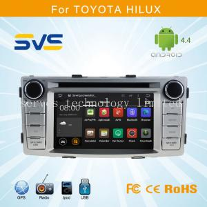 China Android 4.4 car dvd player for Toyota Hilux 2012-2014 GPS navigation with A9 chipset 7inch on sale