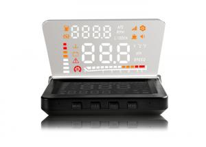China 4 Inch LED Screen E260 Hud Android Hud Projector , OBD2 Connector Heads Up Display Speedometer on sale