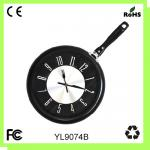 China Metal pan clock/kitchen wall clock wholesale