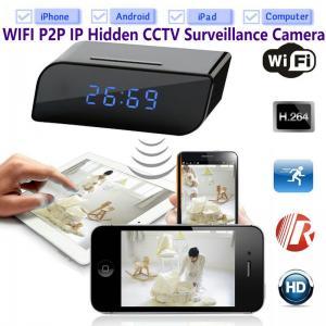China Vigilancia ocultada espía DVR del CCTV de la seguridad en el hogar de la cámara del IP de WIFI P2P del despertador de T8S 720P con control del App de Android/IOS on sale