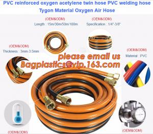 China PVC reinforced oxygen acetylene twin hose PVC welding hose Tygon Material Oxygen Air Hose on sale