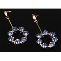 CZ Pave seven Crystal Ball Drop Earrings With 316L Stainless Steel Material