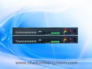 China 8CH video &8CH audio&1PTZ control data&1CH ethernet fiber converters for remote CCTV surveillance system on sale