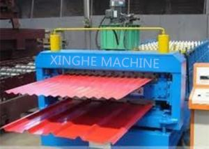 China Galvanized Metal Double Layer Roofing Sheet Roll Forming Machine / Roll Former Machinery on sale