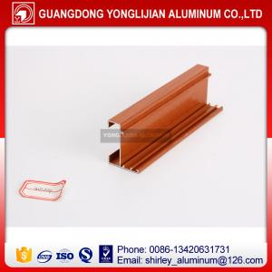 China Aluminum extrusion profile wood finish wholesale price on sale