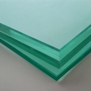 China Clear 10.38mm laminated glass with 0.38mm clear pvb film on sale