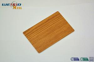 China Architectural Interior Decorative Metal Wall Panels with wood looking film on sale