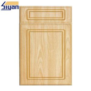 China Flat Panel MDF Shaker Kitchen Cupboard Doors Classic Style With Wood Texture Color on sale