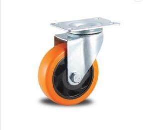 China Metal Rigid PU Caster Wheels / Equipment Heavy Duty Swivel Casters With Brake on sale