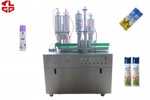 China Semi Automatic Air Freshener Aerosol Spray Filling Machinery 316 Stainless Steel Material on sale