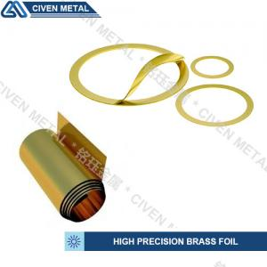 China Customized Bright Golden Yellow Precision Brass Foil Roll For Laminated Shims on sale