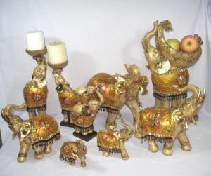 China Polyresin Elephant, Resin Elephant Crafts on sale