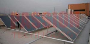 China Laser Welding Easy Mounted Copper Tube Flat Plate Solar Collector For Hotel Heating on sale
