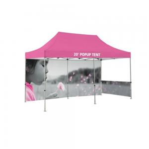 China Advertising Custom Promotional Tents Heat Transfer Printing Flame Retardant Reinforced on sale