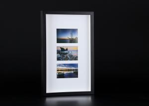 """China Black And White Wooden Collages Frames With Single Mat Hold Three 4"""" x 6"""" Photos on sale"""