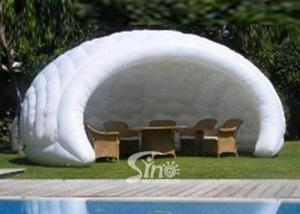 China 18'X14' Small White Inflatable Shell Tent For Coffee Bar Made Of Best Oxford on sale
