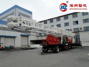 China BZT1500 Trailer Mounted Water Well Drilling Machinery Rig Rotary Down 1500m Hole Depth on sale