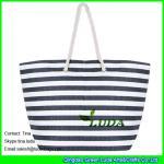 China LUDA striped women handbags fasion paper straw beach handbags wholesale