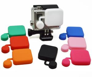 China Protective Silicone Camera Lens Caps For Extra Protection GoPro Hero 3+ , Hero 4 on sale