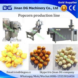 China Hot air caramelized popcorn making machine/Savory air savory popcorn production equipment plant on sale