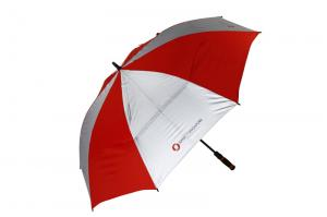 China anti parapluie droit promotionnel UV de golf de double couche on sale