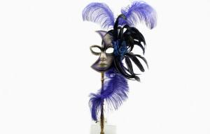 China Handmade Plastic Masquerade Masks On Sticks For Mardi Gras Prom on sale