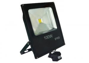 China Outdoor Neutral Color 100w LED PIR Floodlight Motion Detector To Save Energy on sale