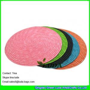 China LUDA personalizou a palha do trigo dos placemats tecida em volta dos placemats on sale