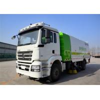 Four Broom Sweeper Truck , Street Sweeper Vacuum Truck For Road Cleaning