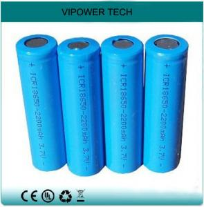 China 3.7V 2200mAh Li-ion Rechargeable Batteries ICR18650 LED Battery Cells on sale